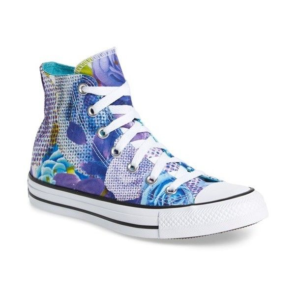 d32c8e33dc21 Women s Converse Chuck Taylor All Star  Digital Floral  High Top ( 45) ❤  liked on Polyvore featuring shoes