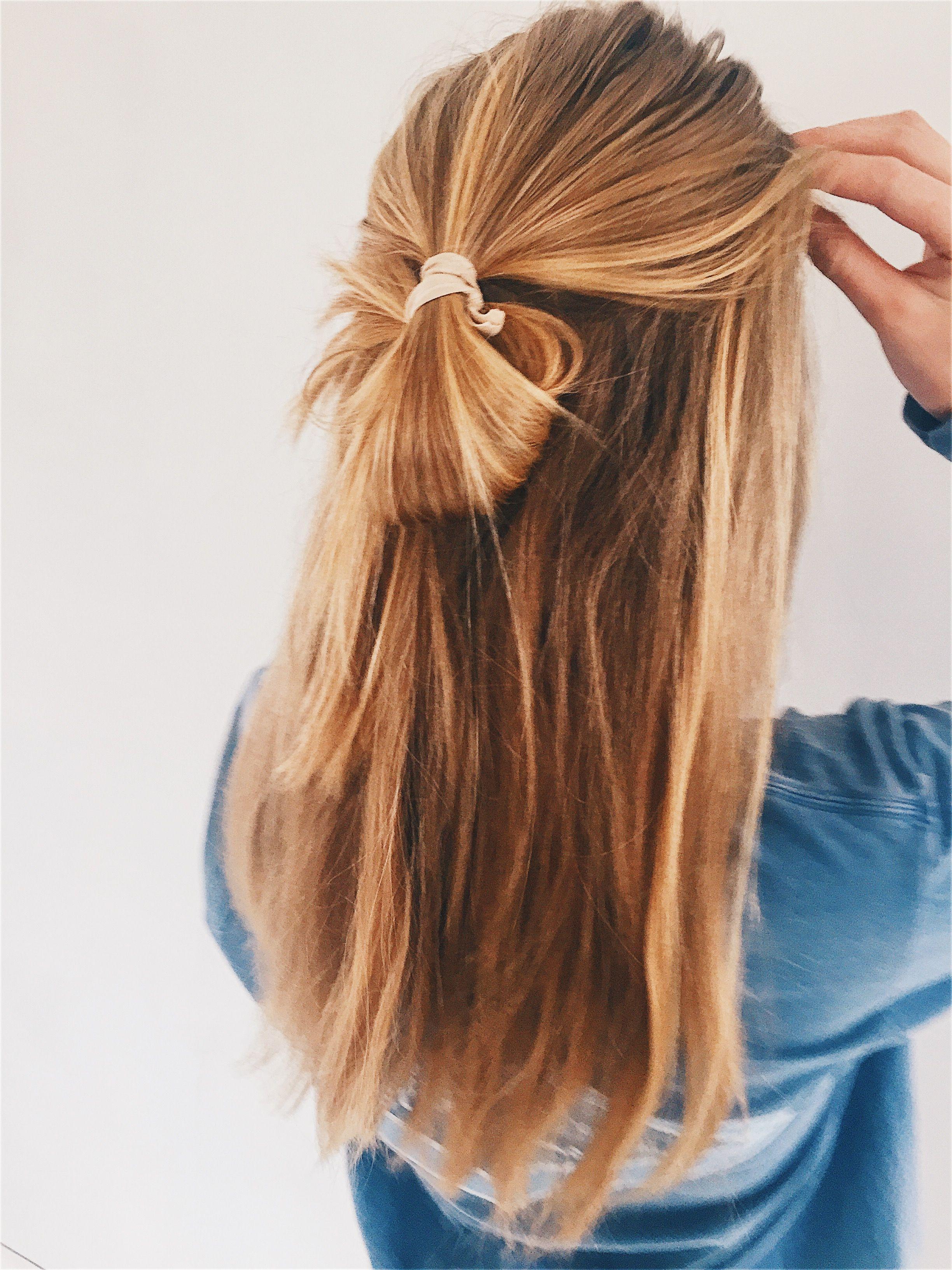 Half Loop Bun Half Up Hair Half Up Half Down Hair Bun Hairstyles