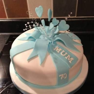Image Result For Mum Dad 70th Birthday Cake Pink Blue Cakes In