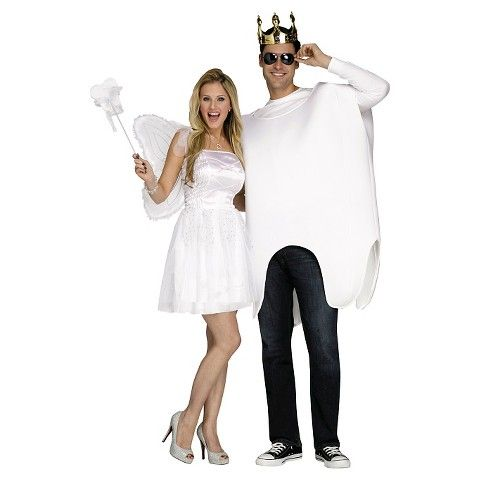 Adult Tooth Fairy and Tooth Costumes - OSFM - Includes 2 Costumes