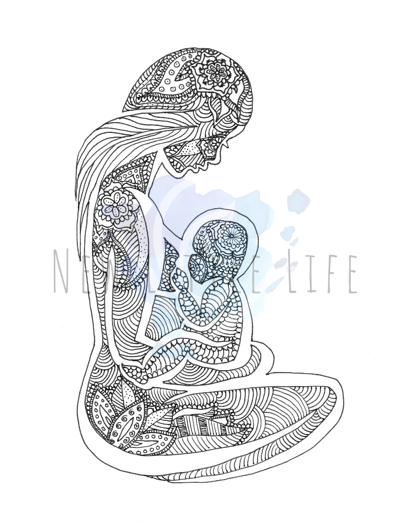 Breastfeeding Coloring Page Digital Download Birth Art Etsy In 2020 Birth Art Breastfeeding Art Mothers Day Drawings