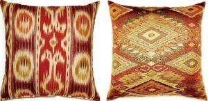 #tribal influence in #tangerine tango #pillows