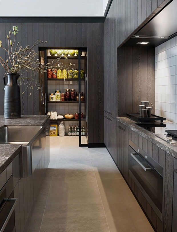 Best 20 Dark Moody Kitchens That Are Totally Dreamy Modern 640 x 480