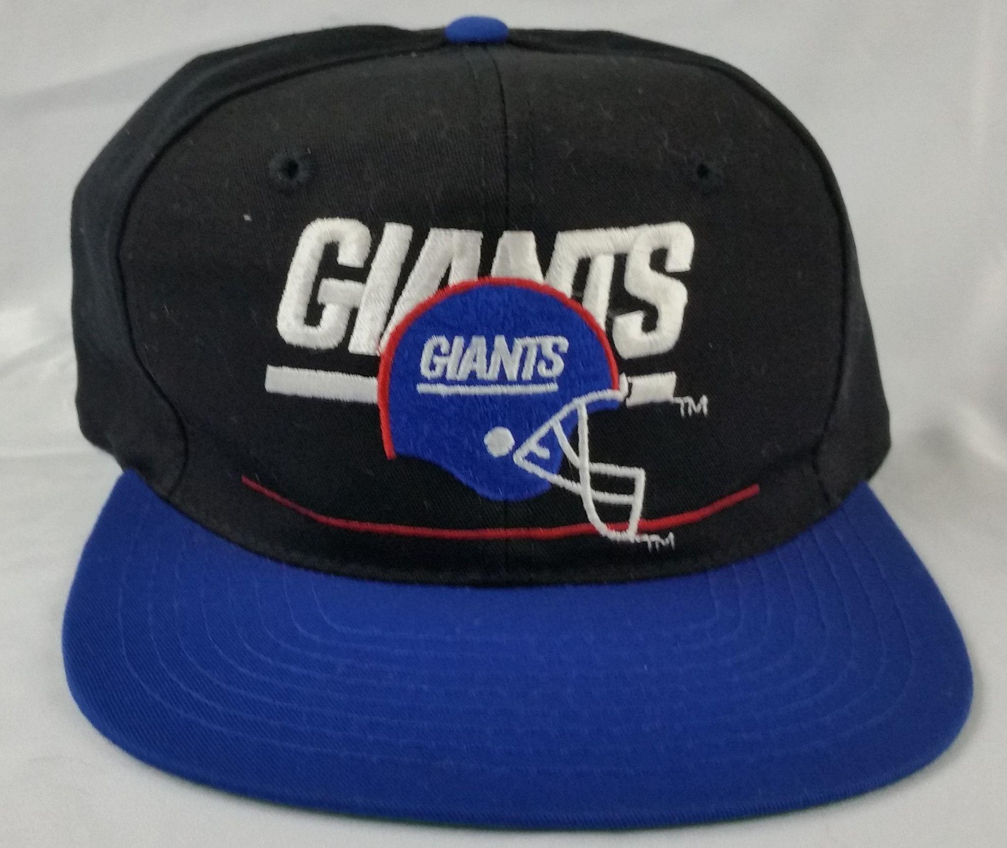 618800e0d5954d New York Giants Vintage Snapback Eastport Team NFL Script Hat Block Plain  Logo