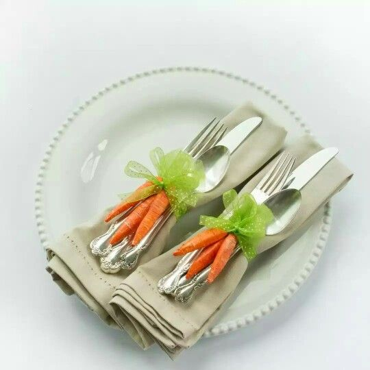 Diy Tutorial Carrot Napkin Rings Easter Placemats Easter Napkins Easter Diy