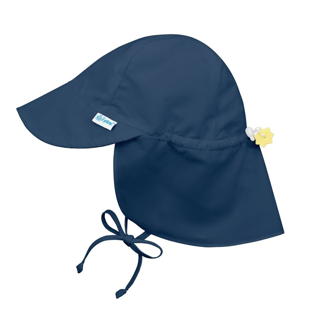 5049897438665 i play. Baby Flap Sun Protection Swim Hat Navy 9-18 Months  iplay ...
