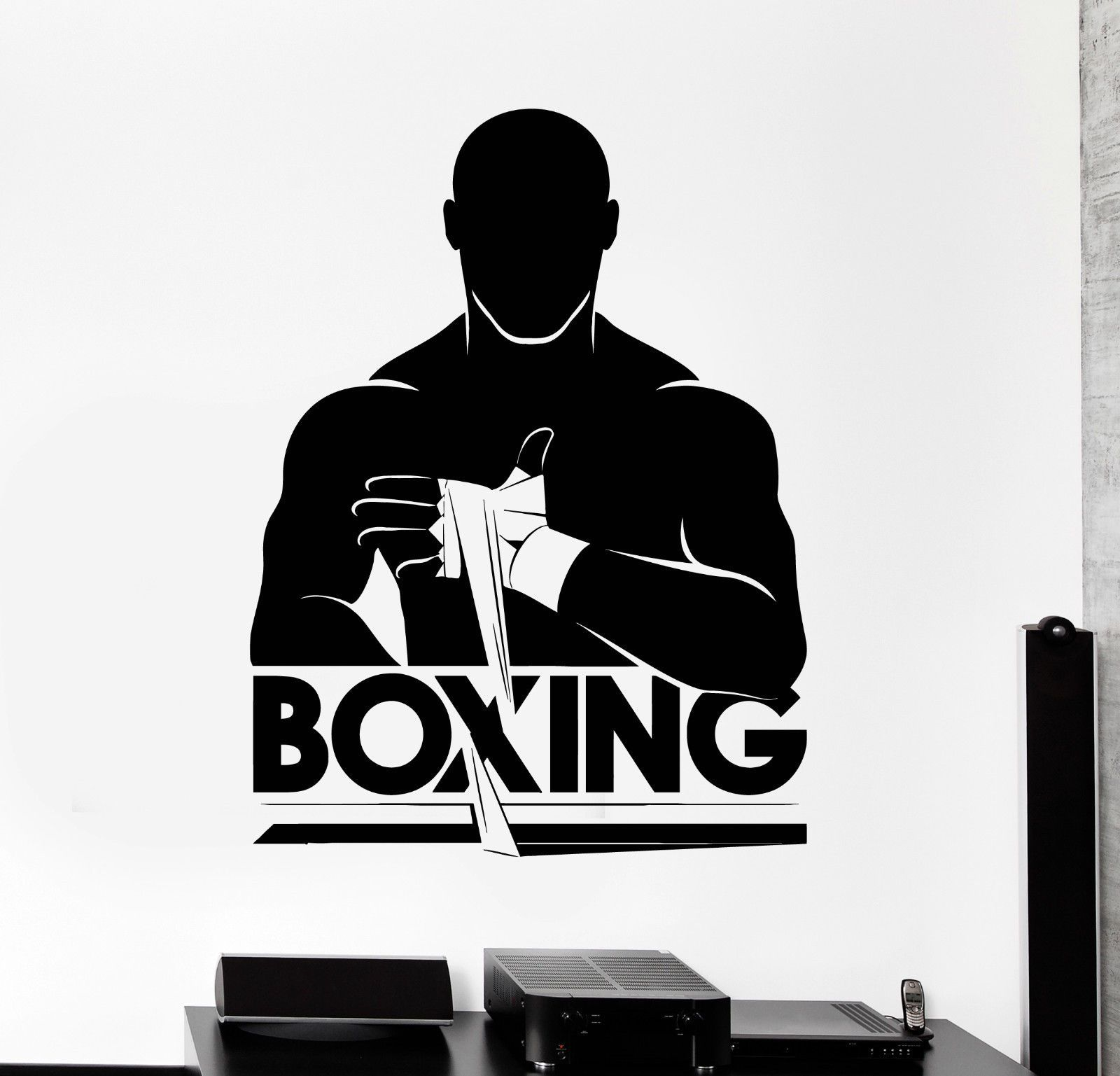 Vinyl wall decal boxing boxer fight club fighter stickers mural ig4238