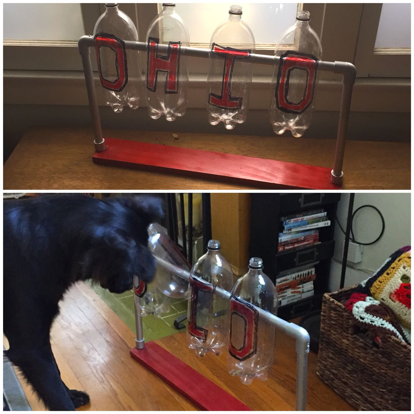Diy Treat Dispenser Using Only Pvc Piping Screws And A Board