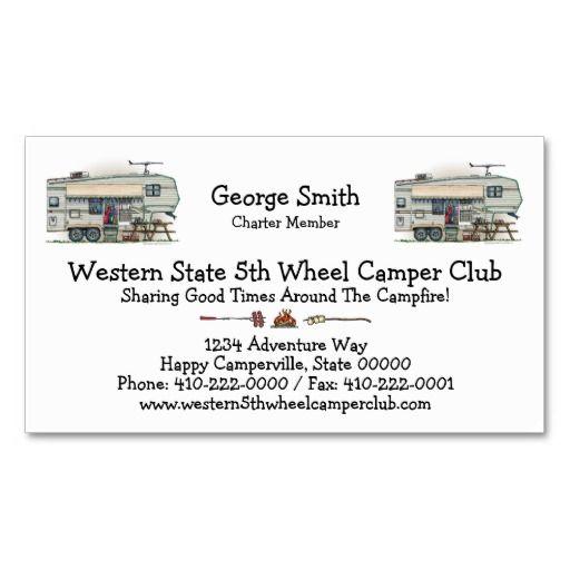 Cute rv vintage fifth wheel camper travel trailer business card rv cute rv vintage fifth wheel camper travel trailer business card colourmoves