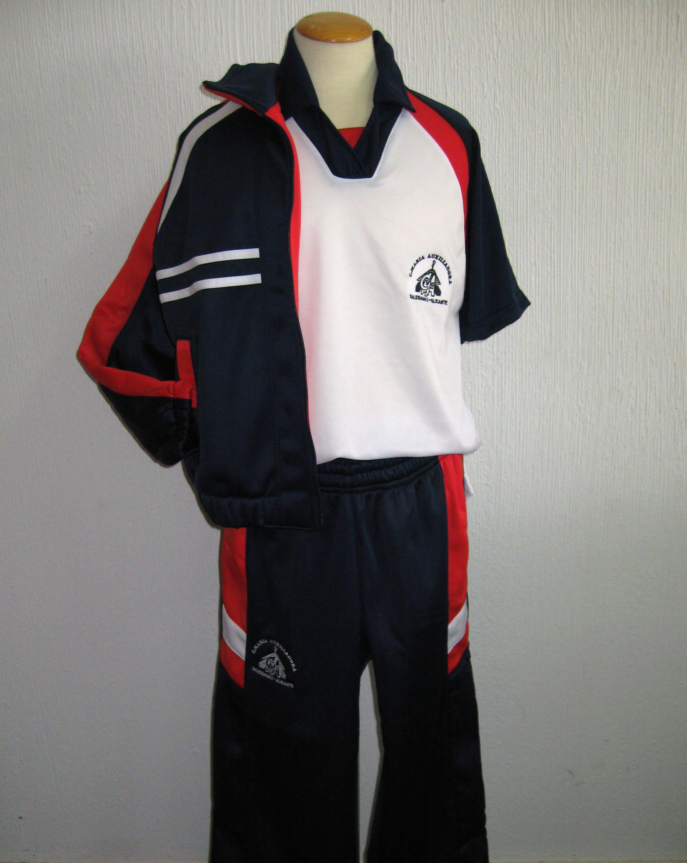 a8554e79be0cf Uniforme deportivo María Auxiliadora con pantalón y chaqueta Uniforme  Escolar