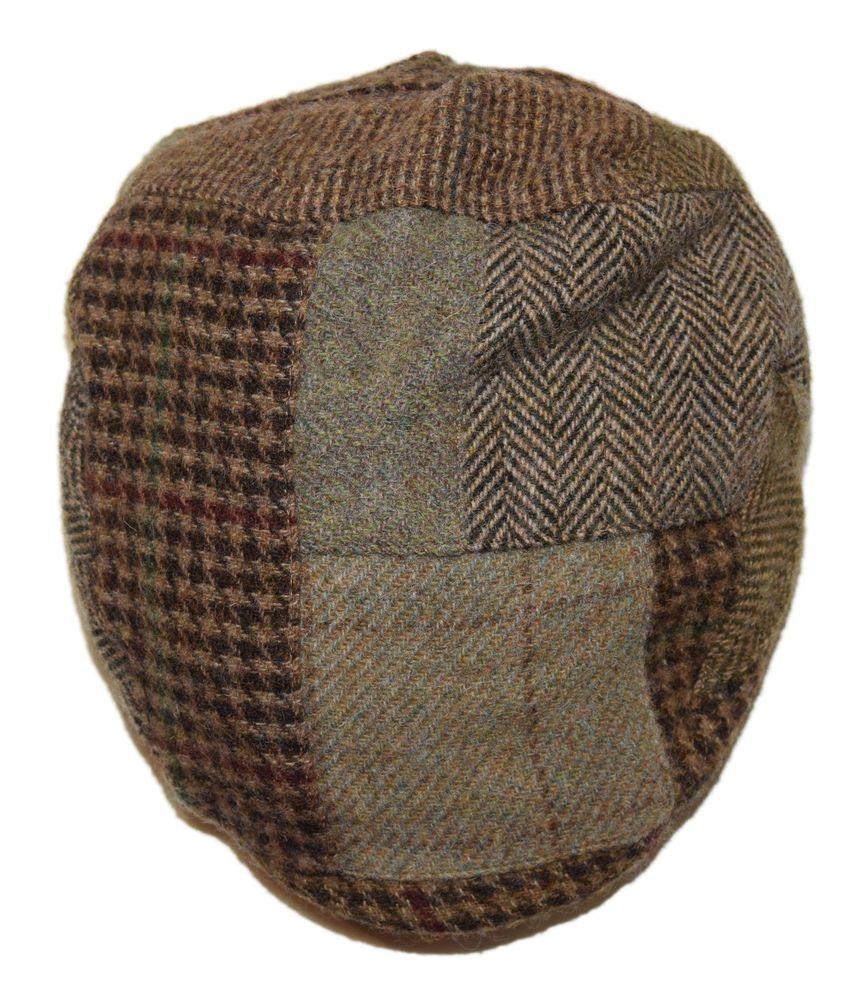 2bd059c64e7 eBay  Sponsored Polo Ralph Lauren Mens Patchwork Plaid Lambs Wool Newsboy  Hat Cap Brown Green