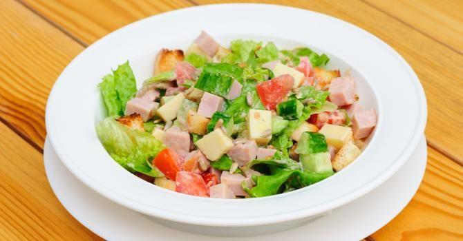 Salade Composee Minceur Au Gouda Jambon Et Graines De Tournesol