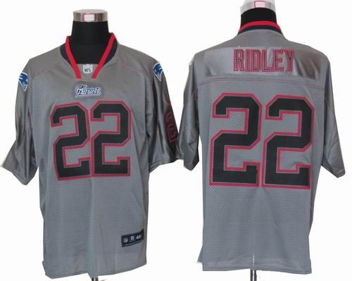 nike new england patriots 22 stevan ridley lights out grey elite jersey 22.5