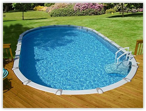 Swimming Pool – Above ground oval w/decking | Pool ideas in ...