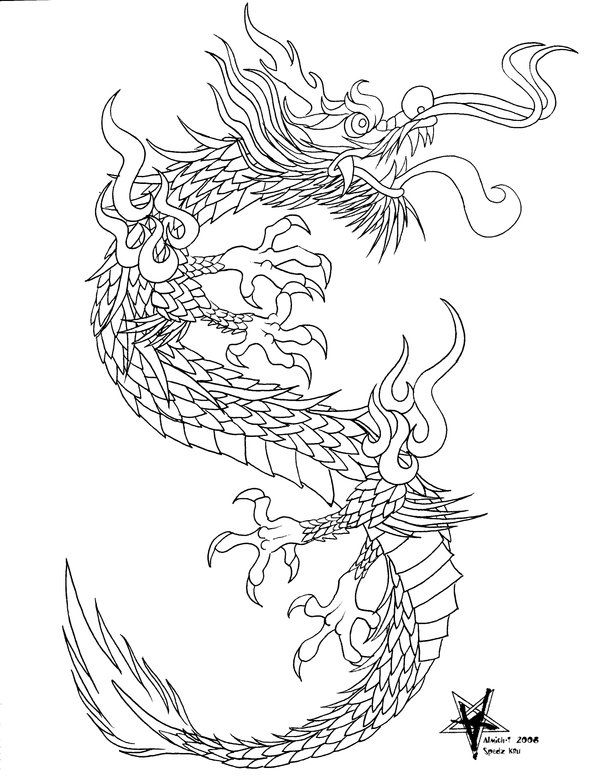 chinese dragon drawings