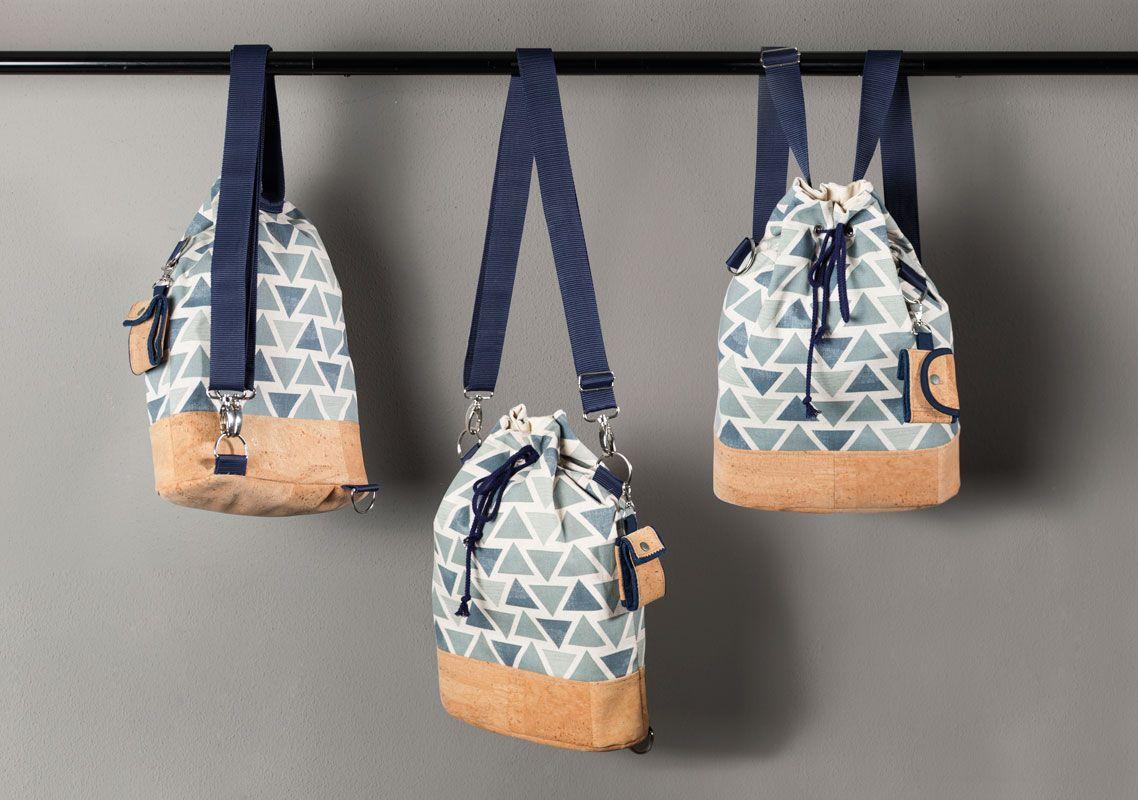 free pattern - kostenloses Schnittmuster Rucksack-Tasche | nähen ...