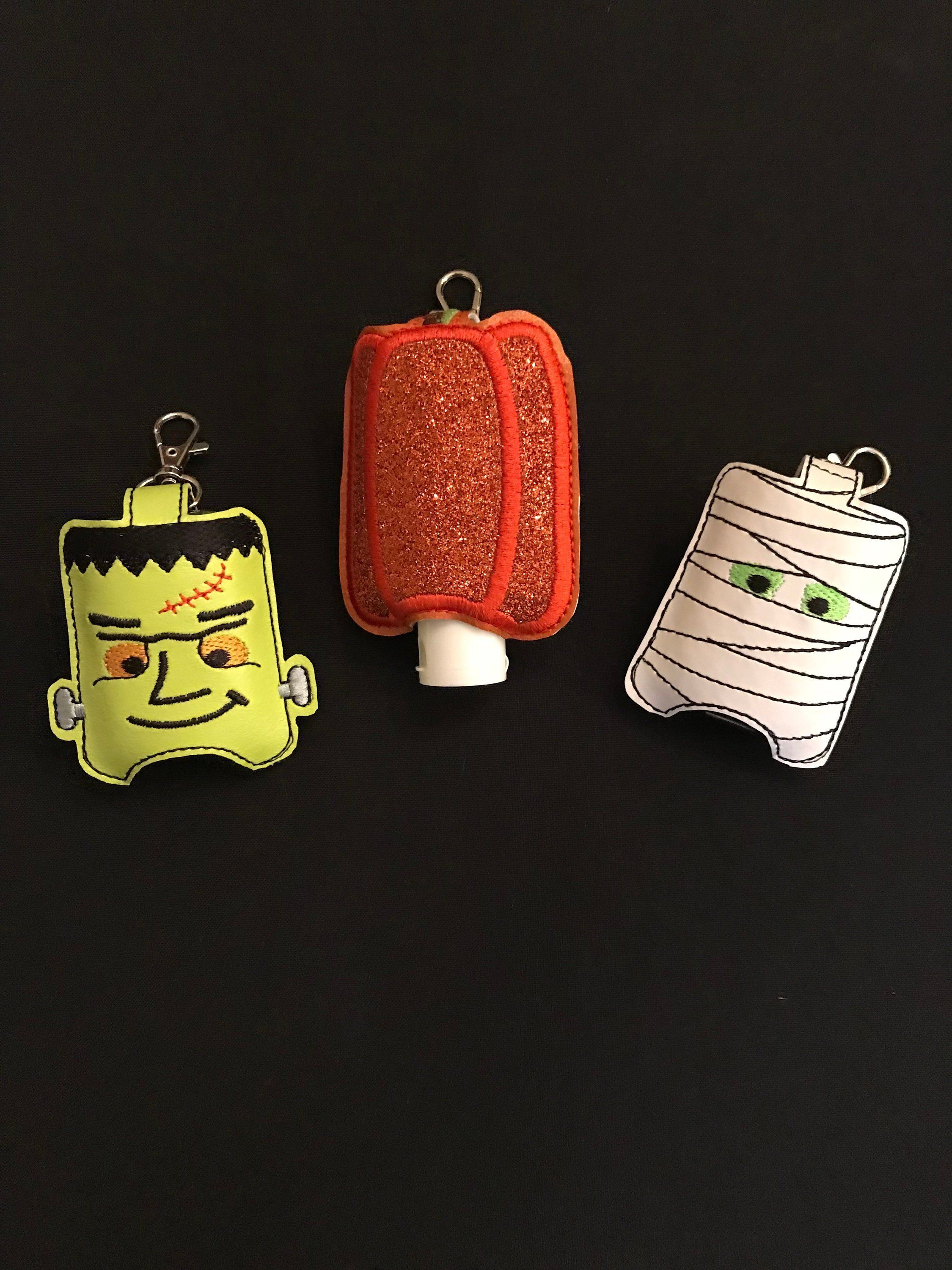 Halloween Hand Sanitizer Holder Halloween Keychain Pumpkin Hand