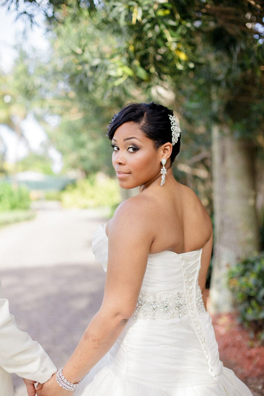 Her hair & makeup & jewelry! stunning    Photography By / http://elainepalladino.com,Floral Design By / http://floraldesignsbyyamir.com