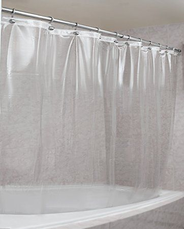 Strongest Mildew Resistant Shower Curtain Liner On The Market 100 Anti Bacterial 10 Gauge Heavy Duty Waterproof 72x72 Inches Clear