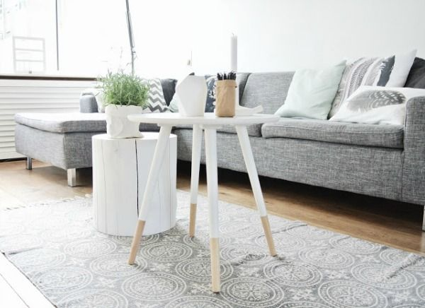 Boomstam Sidetable. Boomstam Salotafel With Boomstam Sidetable ...