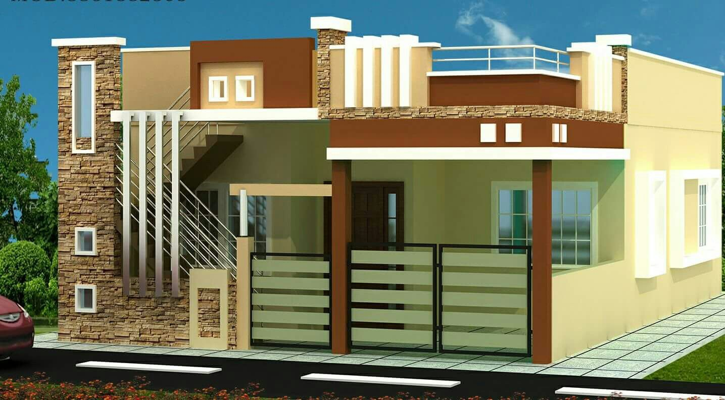 Front Roof Railing Design Of A House In India Wwwvaloblogicom