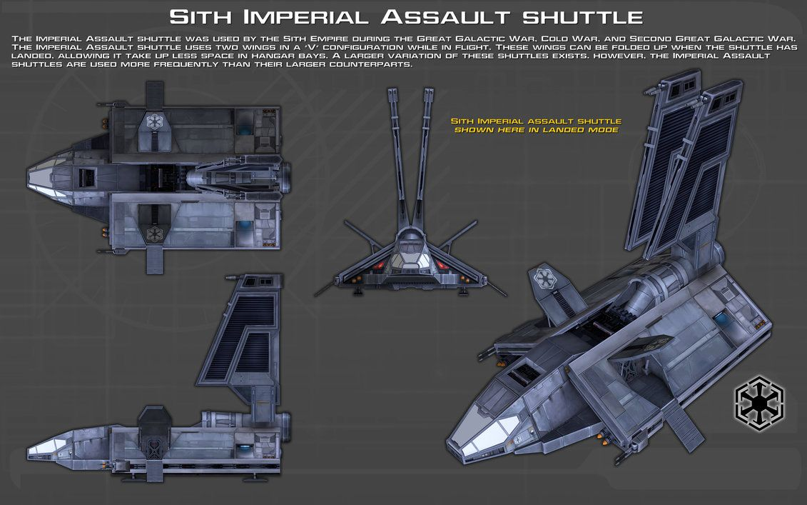 Sith Imperial Assault Shuttle Ortho 1 New By Unusualsuspex On