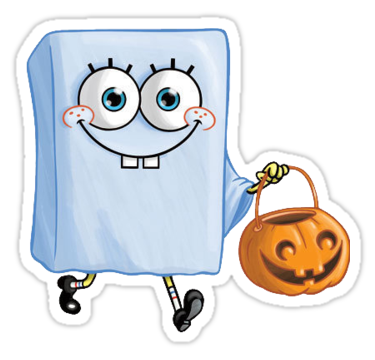 halloween spongebob sticker by