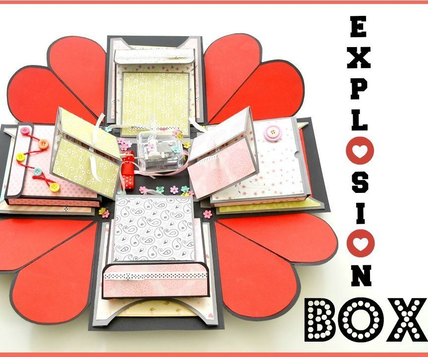 How To Make An Explosion Box Diy Paper Crafts Exploding Wedding
