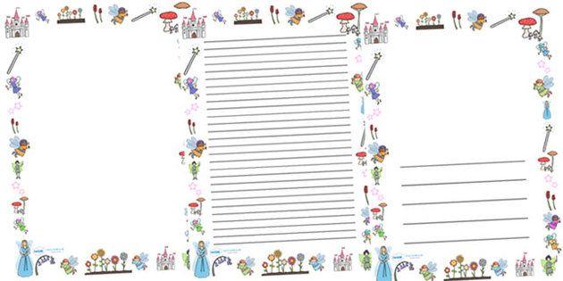 Fairy Tale Writing Paper Border Three
