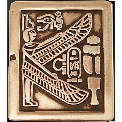 Gorgeous Sterling .925 Egyptian Men's Money Clip at Easterbelle's Emporium at RubyLane.com