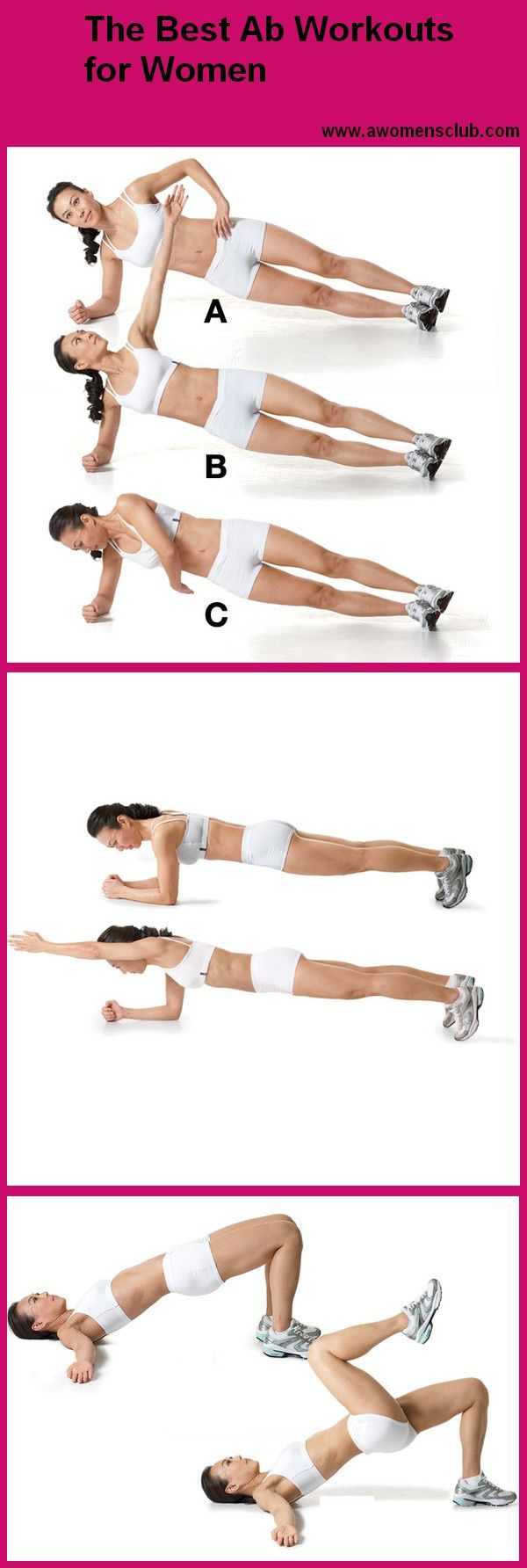 The Best Ab Workouts for Women  Weight Loss Diet  Pinterest