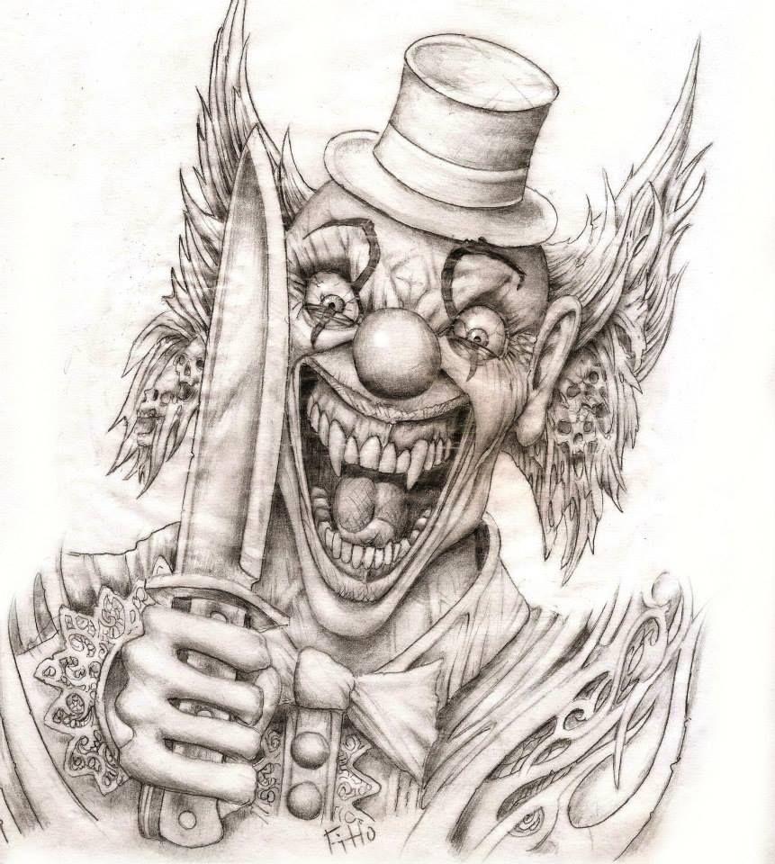 Desenho Palhaço Tatuagem pin de renan silva em clown e/ou mascaras | tatuagem de