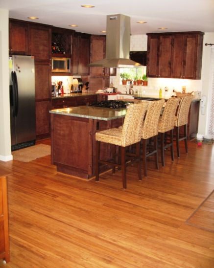 running my bamboo flooring through the kitchen. would do white ...