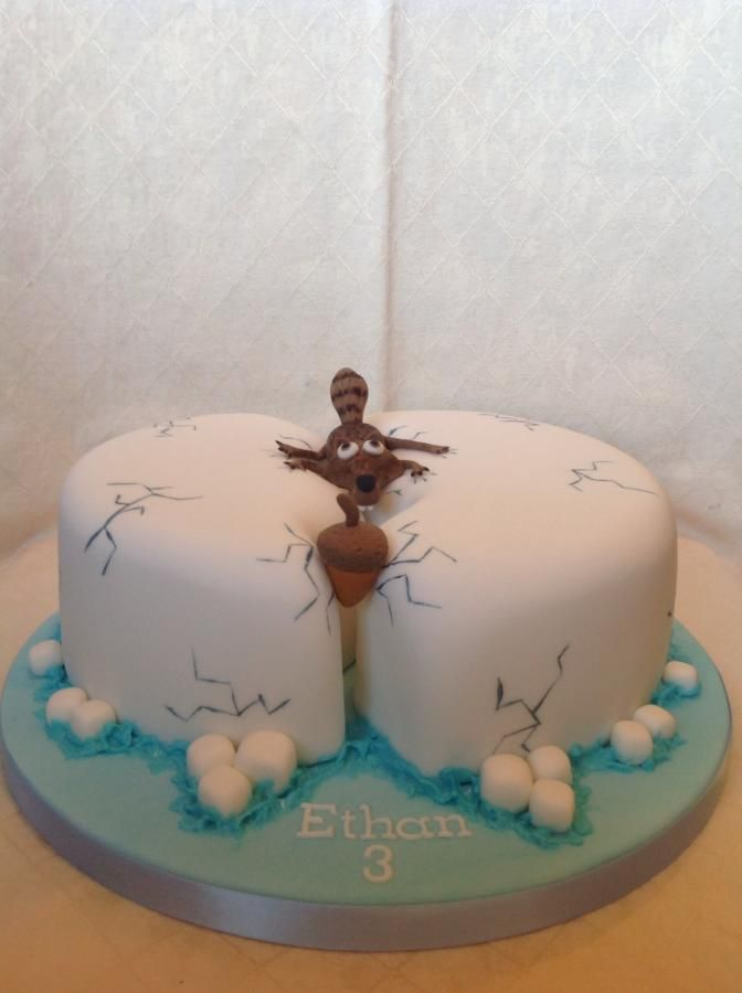 Scratt and his nut!  - Cake by Tiggylou's cakes