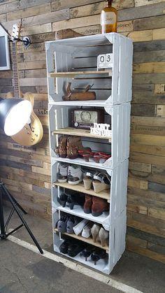 o trouver des caisses en bois et des cagettes cajas de madera crate furniture bedroom. Black Bedroom Furniture Sets. Home Design Ideas