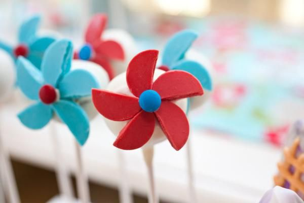 cake pops with circles cut to make pinwheels