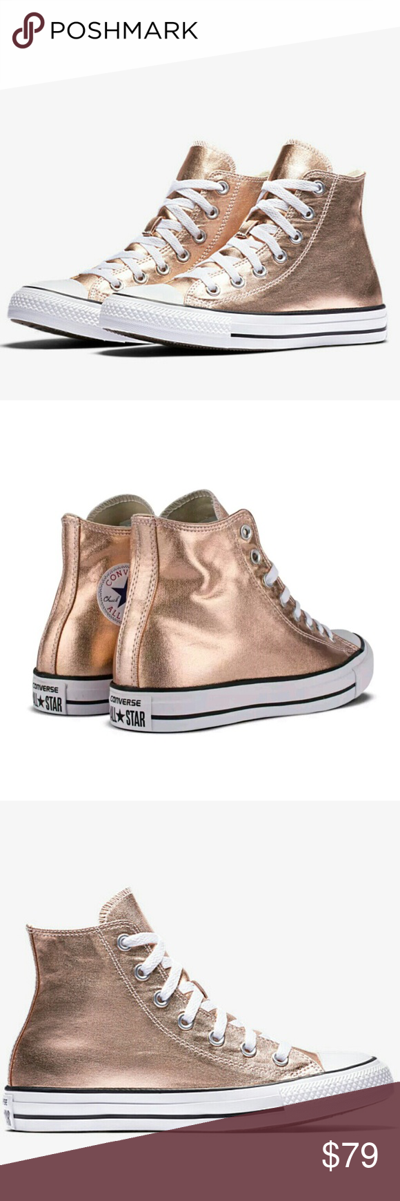 22497f49a07fdd NWT Converse Chuck Taylor Metallic Rose Gold High - Brand New! - Sexy Rose  Gold High Top! - Size  Women s listed 💕The Classic Converse Chuck Taylor  All ...