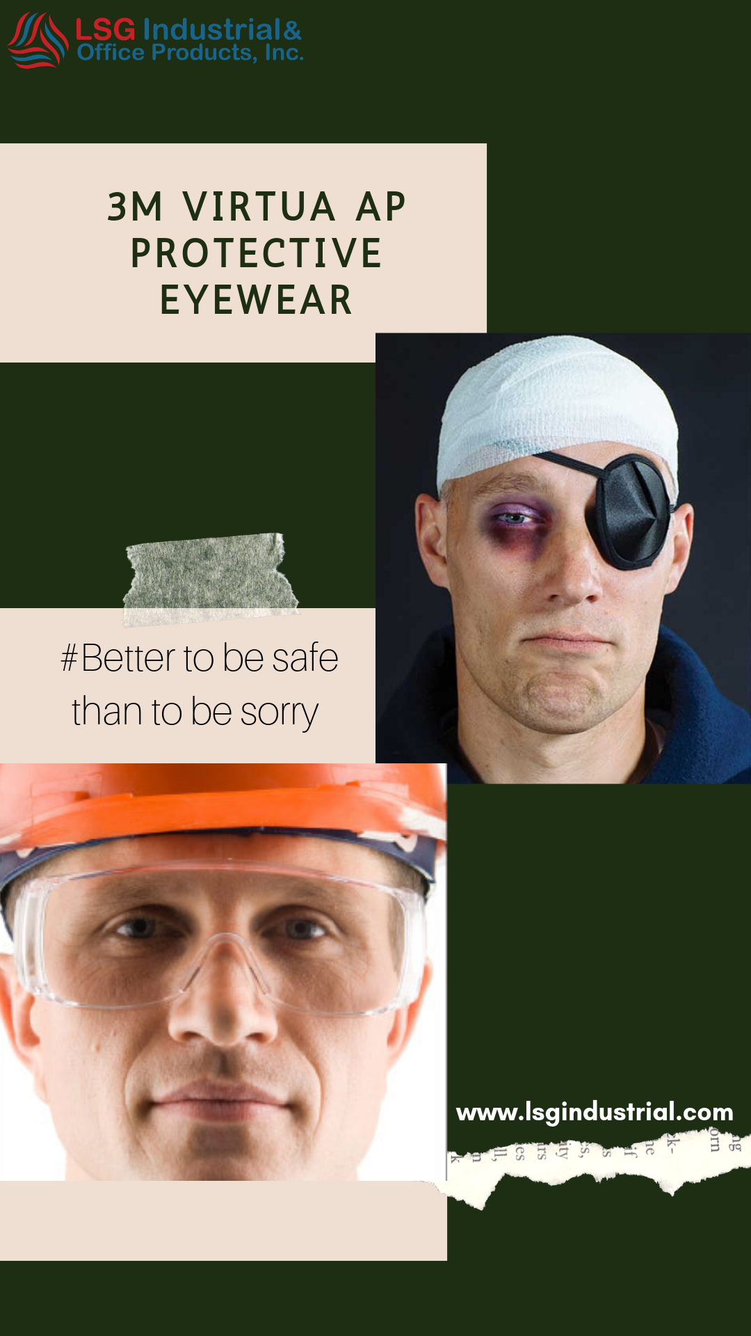 If you got eyes, you need safety glasses! LSG distributes