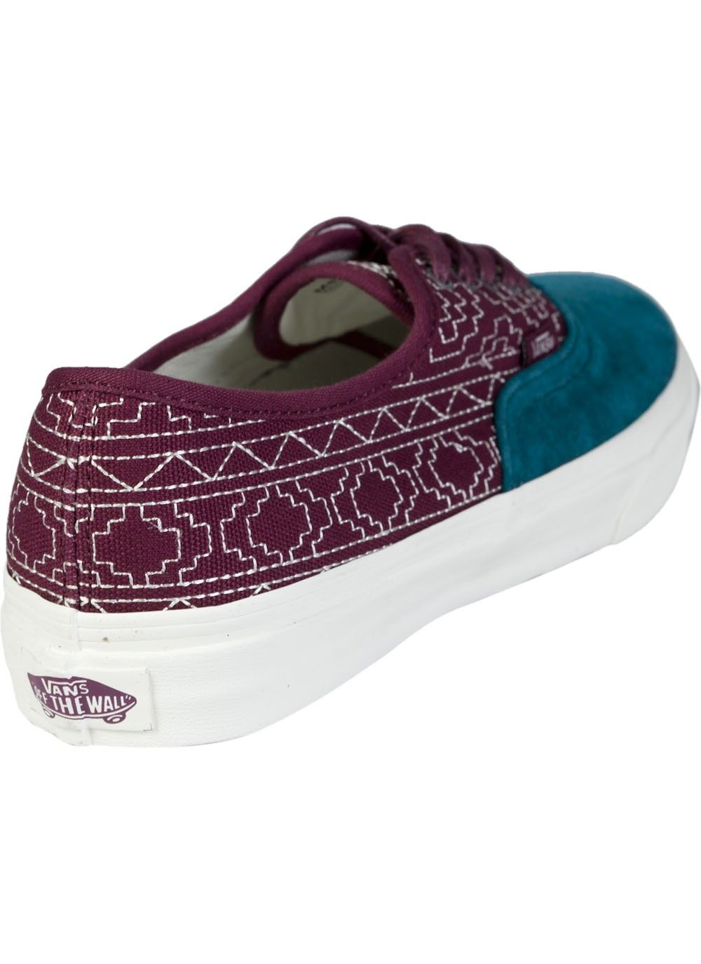 a3b4da7aa3 Vans Authentic Slim California Native Embroidery Burgundy