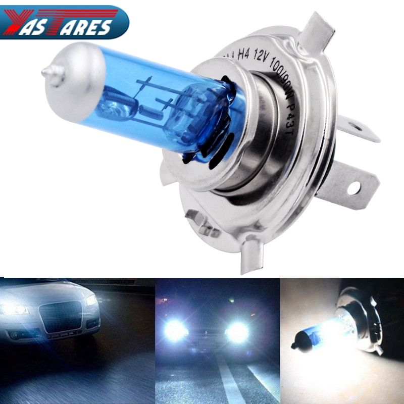 2pcs Car Headlight H1 H3 H4 H7 Super Lamp Super White Car Auto Head Light Headlight Bulbs 55w 100w 12v 5000k Fog Light Car Headlights White Car Headlight Bulbs