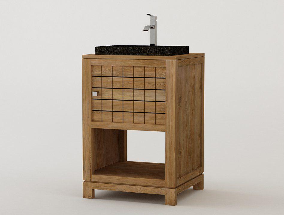 muebles de baos en madera de teca serie lavamanos simples de ignisterra