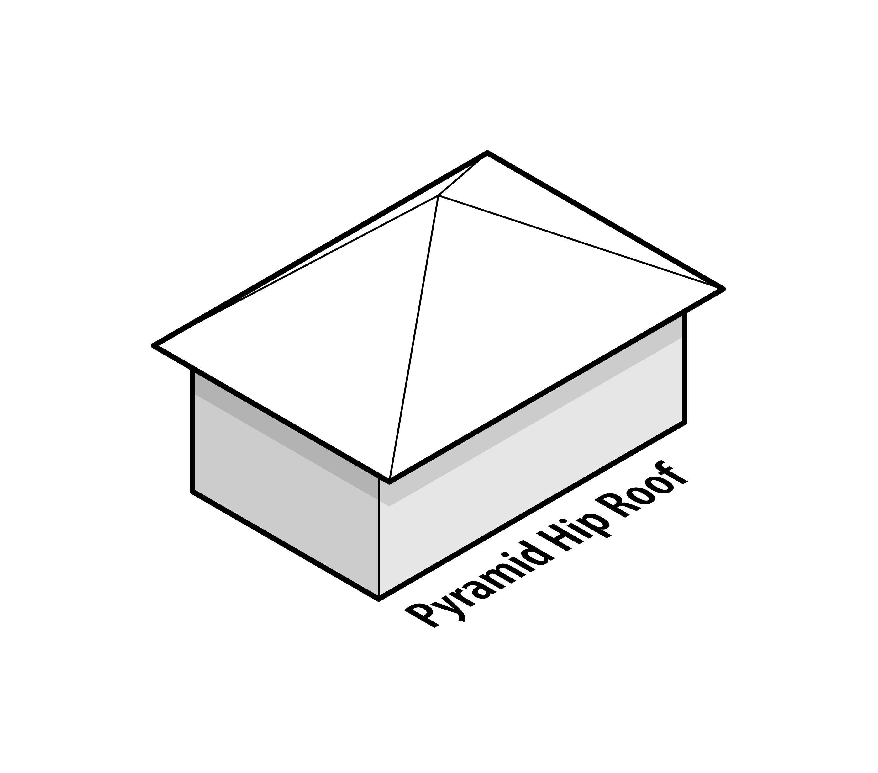 Pyramid Hip Roof Design Hip Roof Design Roof Shapes Roof Design