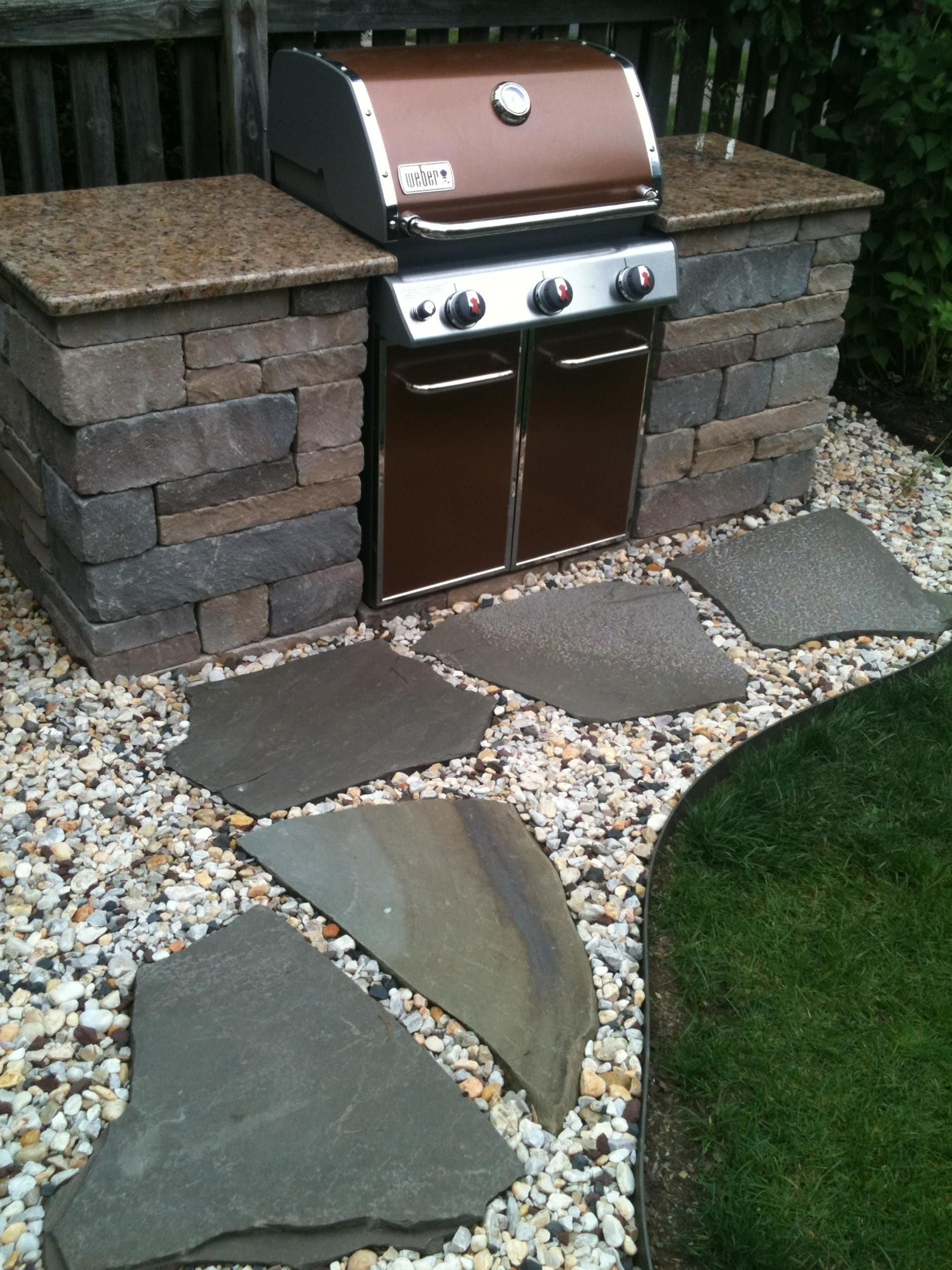 Small Outdoor Grill Ideas 13 | Outdoor grill station