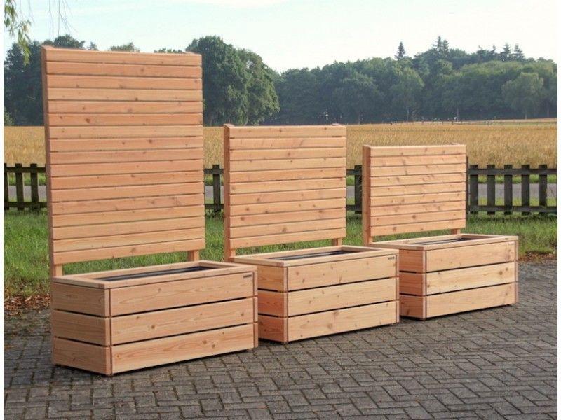 Pflanzkasten Mit Sichtschutz Holz Heimische Douglasie Made In