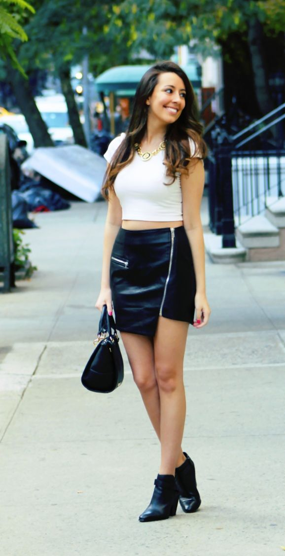 tops to wear with a leather skirt dress ala