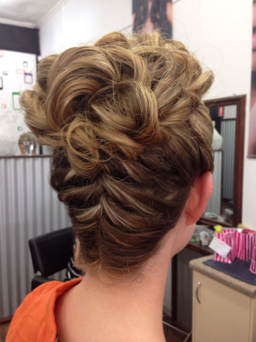 Braid to a bun great for formal hair up styles pinterest