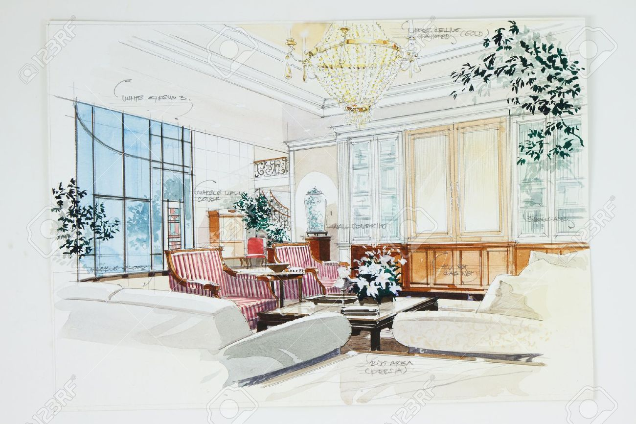 Interior Design Sketches Living Room watercolor interior - Поиск в google | sketch watercolor
