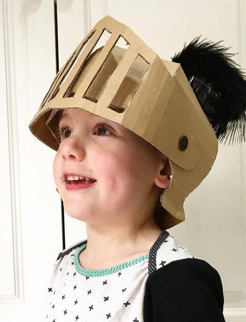 DIY Cardboard Knights Helmet Template