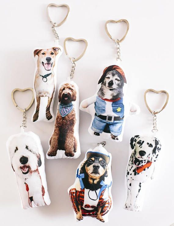 Custom Pet Pillow Keychain Christmas Gift Personalized Gifts Dog Ornament Cat Lover