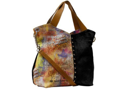 Technomarine Leather Bag Graffiti